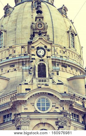 Frauenkirche (Our Lady church) in the center of Old town in Dresden Germany