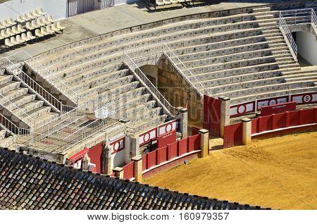 part of no name bullring arena,Andalucai in Spain