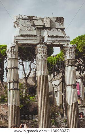 Rome, Italy Temple of Castor and Pollux