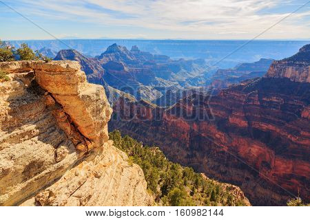 Beautiful Landscape Of Grand Canyon From North Rim, Arizona, United States