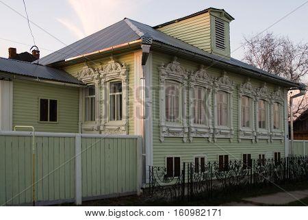 Pokrovskoe, Russia - April 3, 2010: House of Grigory Rasputin where he was born. Tyumen region