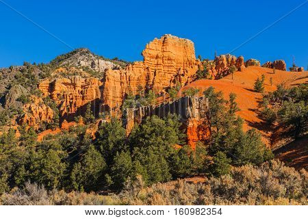 Beautiful Rock Formation. Hoodoos In Bryce Canyon National Park. Utah, United States