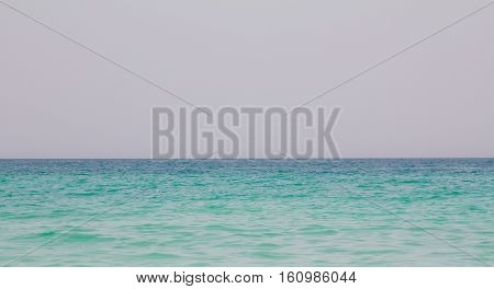 A shot of the ocean at Jumeirah beach in Dubai, UAE