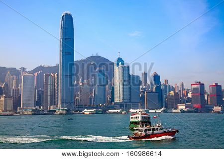 HONG KONG - DECEMBER 3: Ferry