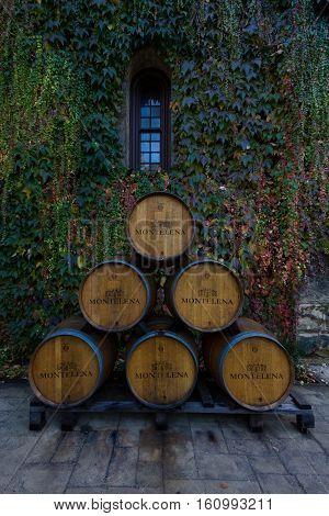 Wine Barrels At Chateau Montelena