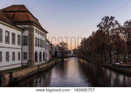 Esslingen Rathaus Germany Landscape River Outdoors Sunset Weather Travel