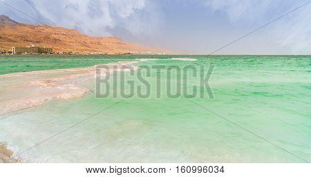 seascape coast line of the Dead Sea
