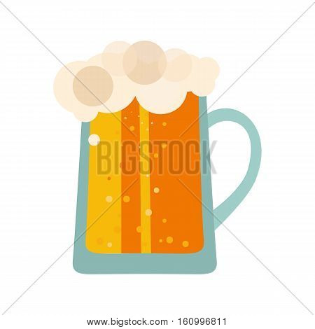 Beer glass cups icons. Beer bottle isolated logo. Beer label, beer mug. Oktoberfest beer pub. Beer vector illustration EPS10