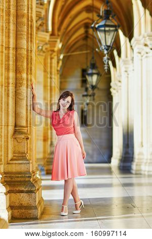 Beautiful Young Tourist In Vienna