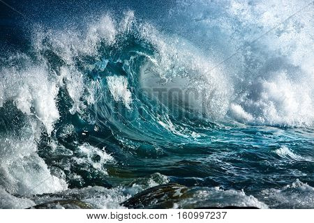 Turbulent Ocean. Ocean Waves. Storm Or Surf.