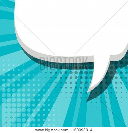 Blank comic balloon blue template. Comic speech bubbles halftone dot background style pop art. text dialog empty cloud pop art. Creative idea conversation comic background sketch explosion