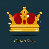 Blinking or shining pope crown or tiara. King or prince, princess or queen crown icon, royalty heraldic symbol of wealth. For old medieval or historical theme, game crown or king majesty, pope diadem poster