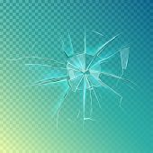 Mirror or broken glass, cracked or shattered window. Crash glass or crack on window frame, shatter mirror or breaking glass, cracked screen. May be used for accident damage, burglary or anger theme poster