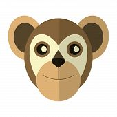 breasted capuchin primate brazil fauna vector illustration eps 10 poster