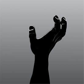 Cartoon zombie hands. Vector clip art illustration. Hand drawn Halloween Zombie Horror illustration for your design.