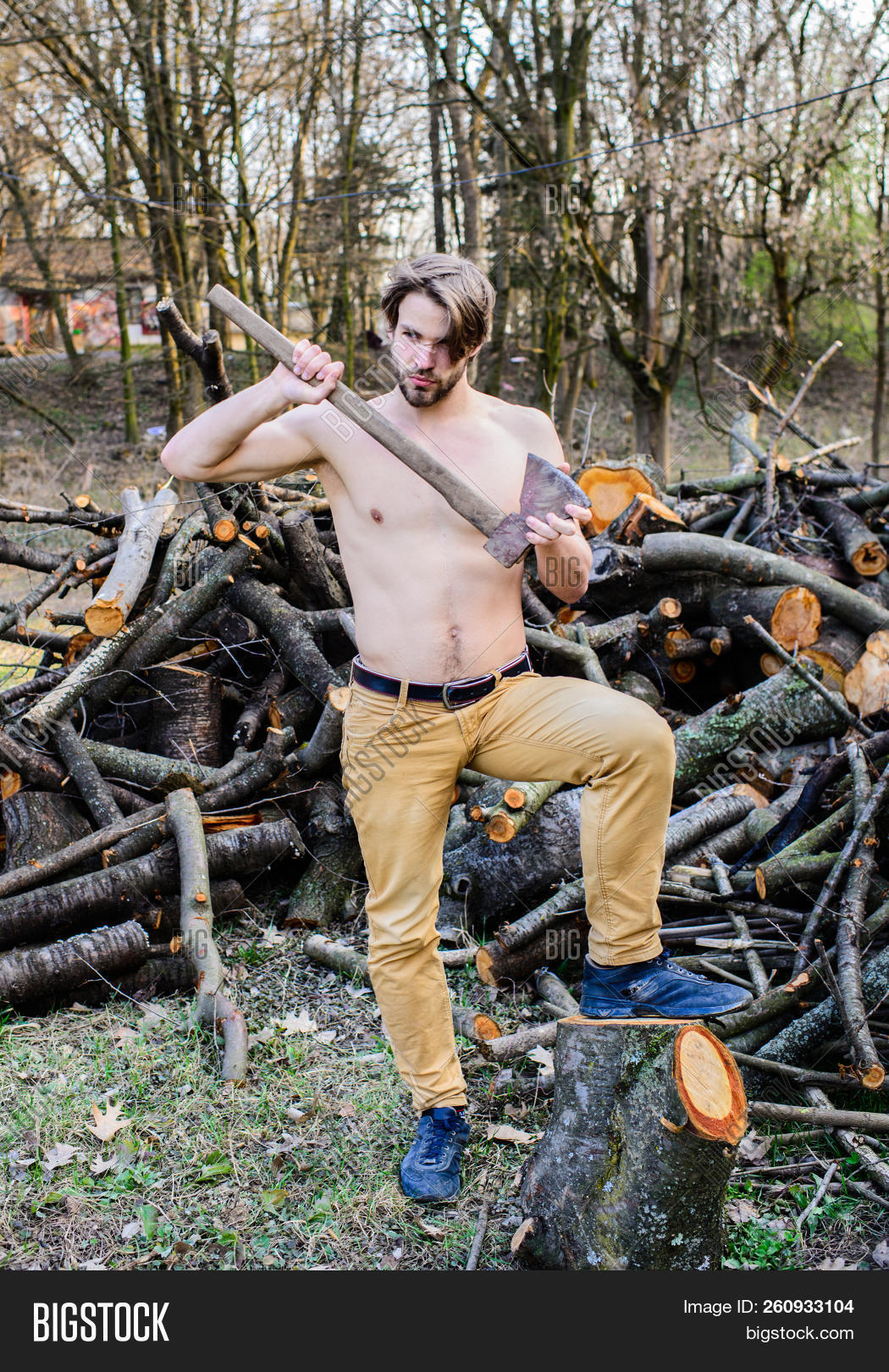 naked in wood