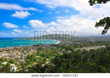 Panoramic view of Baracoa in the Guantanamo province, Cuba