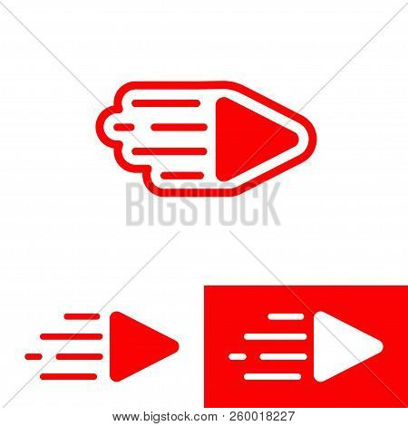 A Live Streaming Video Play Vector Sign