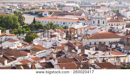 Estremoz, Portugal - August 23, 2018: Panoramic View Of Estremoz In Alentejo Region, Portugal.