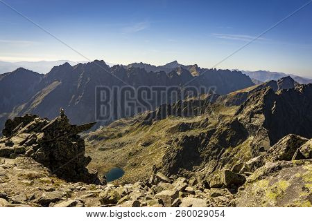 View From Rysy On The Mengusovska Dolina. High Tatras. Slovakia.
