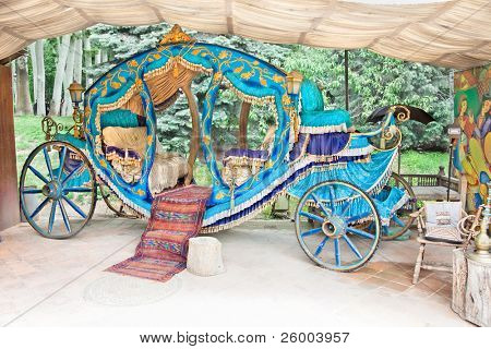 Royal coach in  Saad Abad  complex, Tehran, Iran