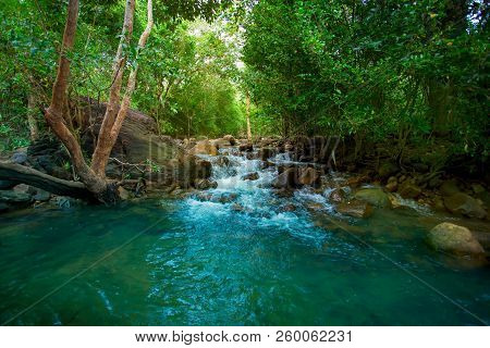 Waterfall Water Nature River Stream Forest Landscape Cascade Green Rock Rocks Fall Flow Creek Stone