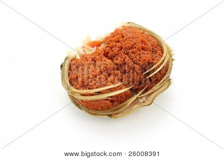 female snow crab egg sac , japanese food