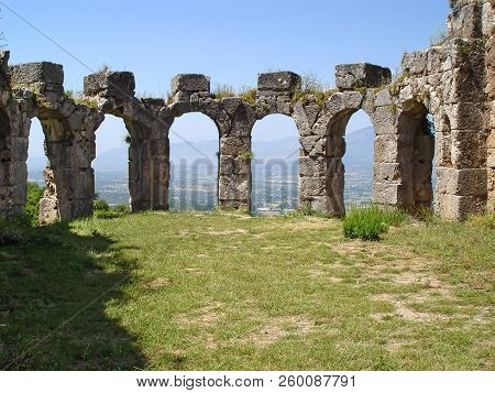 Ruins Of Roman Great Baths In Tlos. Turkey, Fethiye