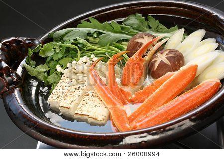 crab nabemono , japanese steamboat dish poster
