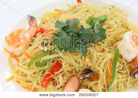 singapore style stir fried rice vermicelli noodles