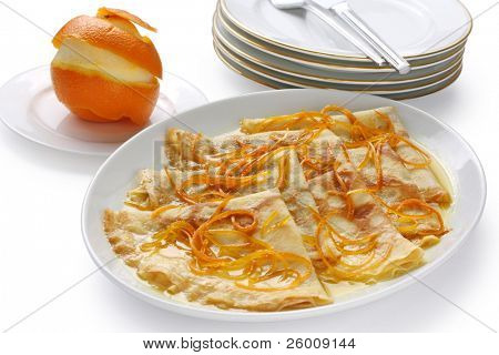 crepes suzette , french dessert poster