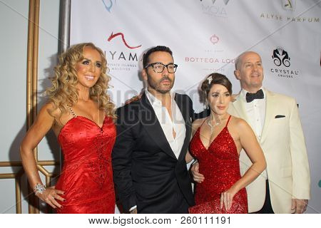 Deborah Alessi, Jeremy Piven, Christina De Rosa, Dr. David Alessi at the 9th Annual Face Forward Gala at the Beverly Wilshire Hotel in Beverly Hills, CA on Sept. 22, 2018.