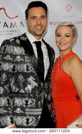 Brett Dalton and his wife arrive at the 9th Annual Face Forward Gala at the Beverly Wilshire Hotel in Beverly Hills, CA on Sept. 22, 2018.