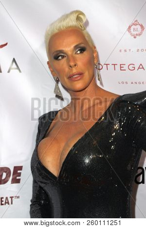 Brigitte Nielson arrives at the 9th Annual Face Forward Gala at the Beverly Wilshire Hotel in Beverly Hills, CA on Sept. 22, 2018.