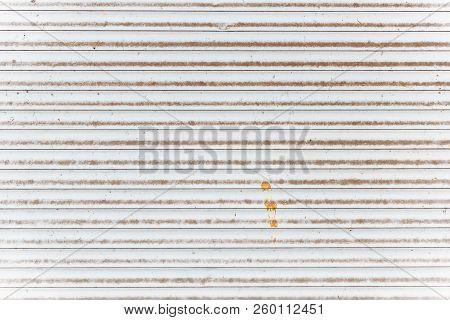 White Old Metal Jalousie Background Or Texture