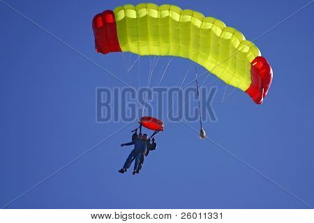 Paragliding duo