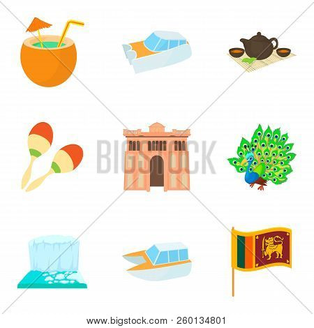 Journey Attraction Icons Set. Cartoon Set Of 9 Journey Attraction Icons For Web Isolated On White Ba