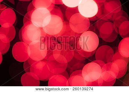 Red abstract bokeh - perfect christmas and Valentine background medical background - erythrocytes poster