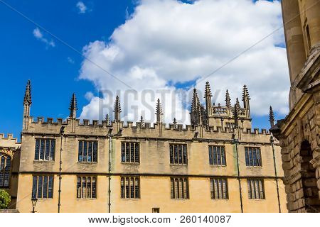 Oxford, Uk - June 08, 2015: Bodleian Libraries Is The Largest University Library System In The Uk An