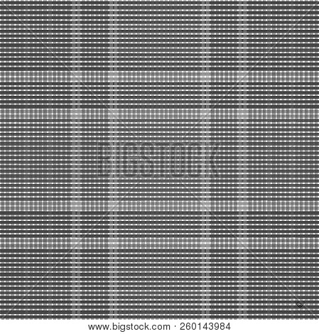 Tartan Dark Seamless Pattern Background, Vector Illustration
