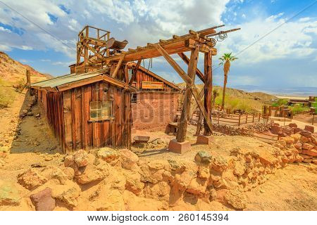 Calico, California, United States - August 15, 2018: Calico Ghost Town With Abandoned Gold And Silve