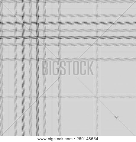 Tartan Grey Seamless Pattern Background, Vector Illustration