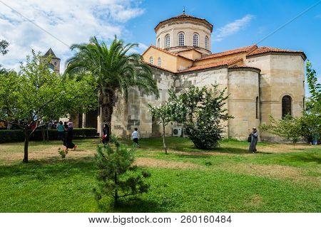 Trabzon, Turkey - June 2018: Religious Building In Trabzon, Turkey. Popular Tourist Destination.
