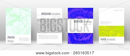 Abstract Cover. Dramatic Design Template. Suminagashi Marble Minimalistic Poster. Dramatic Trendy Ab