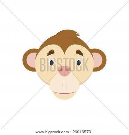 Monkey Face Cartoon Vector Photo Free Trial Bigstock