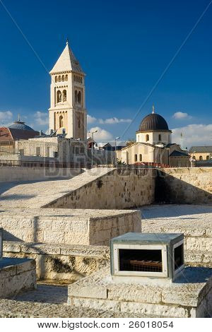 View from one of the roofs in Jerusalem