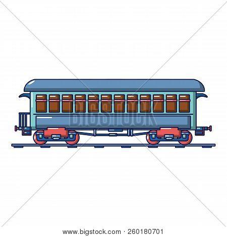 Vintage Passenger Wagon Icon. Cartoon Of Vintage Passenger Wagon Icon For Web Design Isolated On Whi