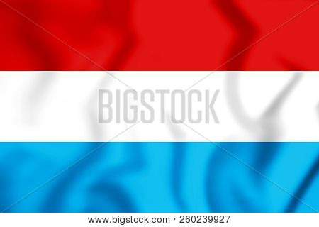 3d Statenvlag, Republic Of The Seven United Netherlands. Dutch Republic. 3d Illustration.