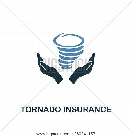 Tornado Insurance Icon In Two Color Design. Line Style Icon From Insurance Icon Collection. Ui And U