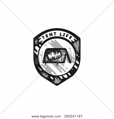 Vintage Hand Drawn Adventure Themed Retro Badge. Logo Is Perfect For T-shirts, Mugs, Prints, Brandin
